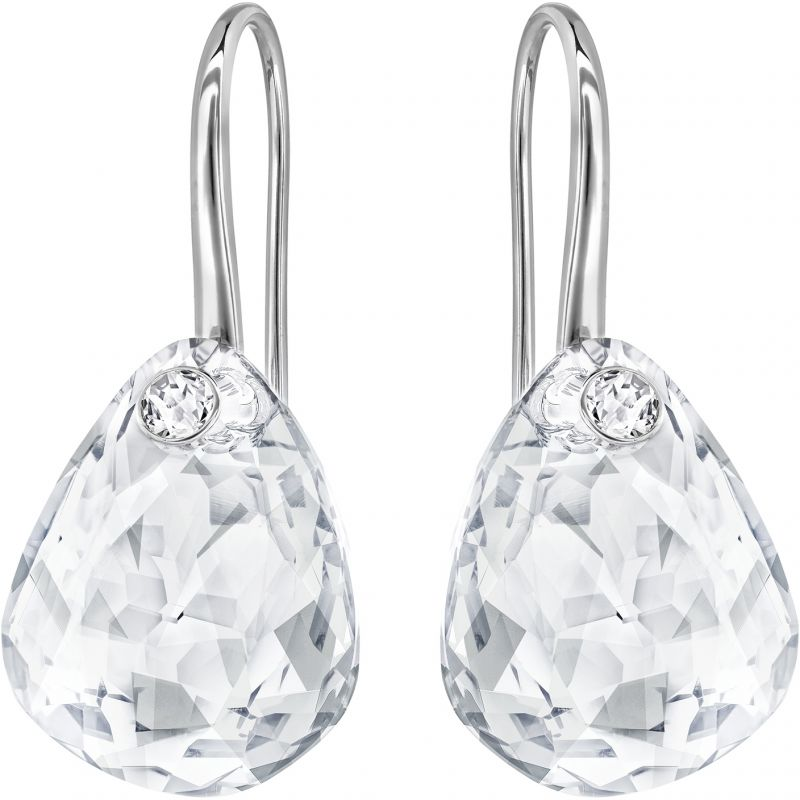 Ladies Swarovski Rhodium Plated Parallele Earrings 5199716