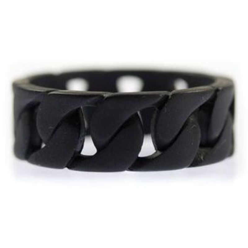Icon Brand Base metal Bike Trader Ring Size Medium P1163-R-BLK-MED
