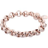 Ladies Bronzallure 18ct Rose Gold Plated Bronze Bracelet
