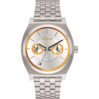 unisexe Nixon The Time Teller Deluxe SW BB-8 Silver / Watch A922SW-2604
