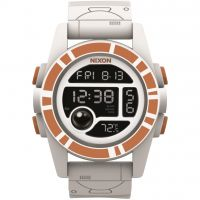 Herren Nixon The Unit 40 SW BB-8 White / Orange Alarm Chronograph Watch A490SW-2606