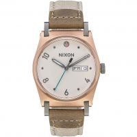 Nixon The Jane Leather SW Rey Light Gold / Damklocka Naturvit A955SW-2608