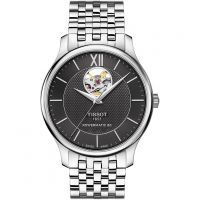 Tissot Tradition Open Heart Powermatic 80 Herrklocka Silver T0639071105800