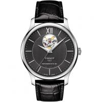 Tissot Tradition Open Heart Powermatic 80 Herrklocka Svart T0639071605800