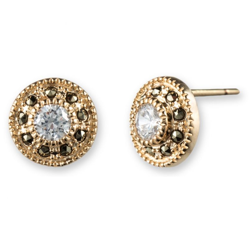 Ladies Judith Jack PVD Gold plated Earrings 60341081-887