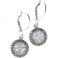 Ladies Judith Jack PVD Silver Plated Earrings