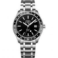 Herren Rotary Schweizer hergestellt Legacy Quarz GMT Uhr