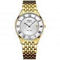 Herren Rotary Schweizer hergestellt Ultra Slim Quarz Uhr