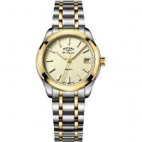 Damen Rotary Schweizer hergestellt Legacy Quarz Uhr