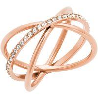 Damen Michael Kors PVD Rosa plating Größe P Brilliance Ring