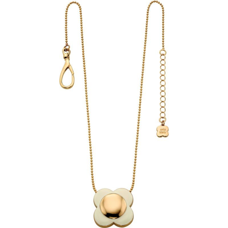 Ladies Orla Kiely Gold Plated Flower Necklace N4022
