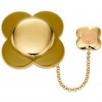 Ladies Orla Kiely Gold Plated Flower Brooch D341