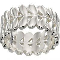 Ladies Orla Kiely Silver Plated Leaf Ring R3468/52