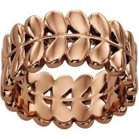 Damen Orla Kiely Rose vergoldet Blatt Ring