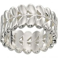Ladies Orla Kiely Silver Plated Leaf Ring R3468/56