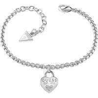 Ladies Guess Rhodium Plated All About Shine Bracelet