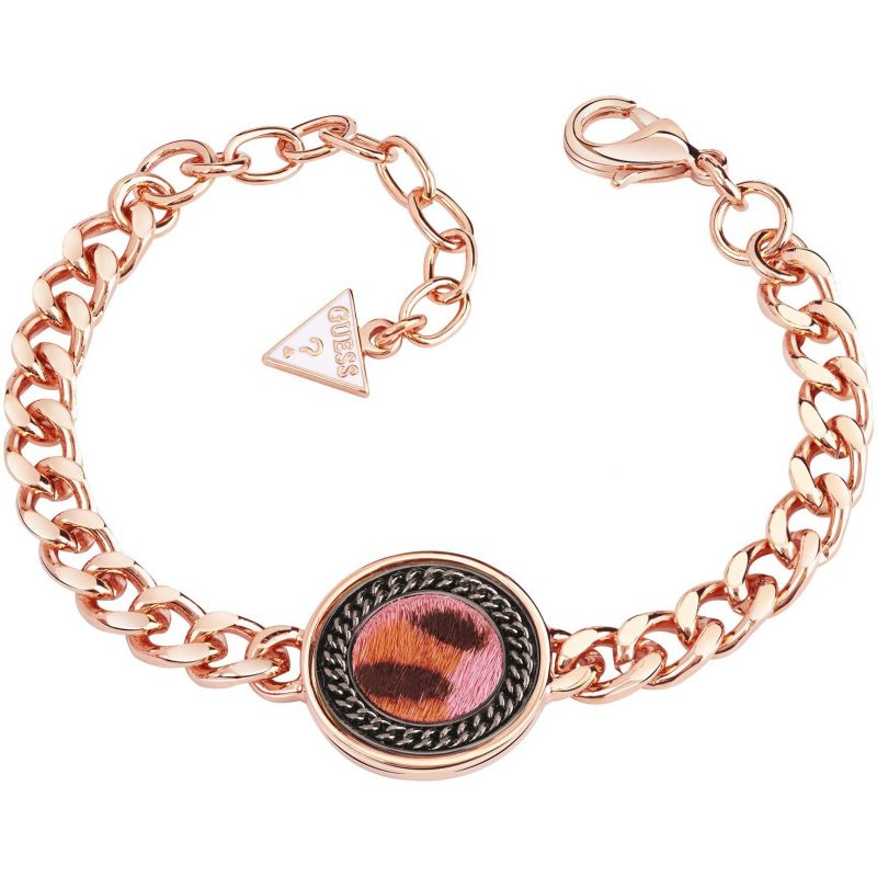 Ladies Guess Rose Gold Plated Animal Twist Bracelet UBB82003-L