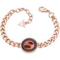 femme Guess Jewellery Animal Twist Bracelet Watch UBB82003-L