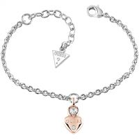 Ladies Guess Rhodium Plated Guessy Bracelet UBB82014-L